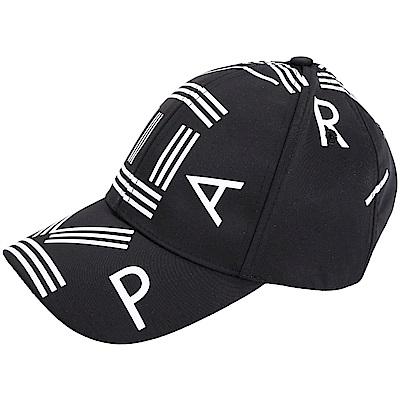 KENZO 品牌幾何LOGO尼龍棒球帽(黑色)