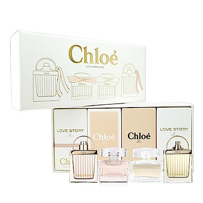 Chloe 小香禮盒四入組-愛情故事/玫瑰之心/同名/愛情故事晨曦-快速到貨
