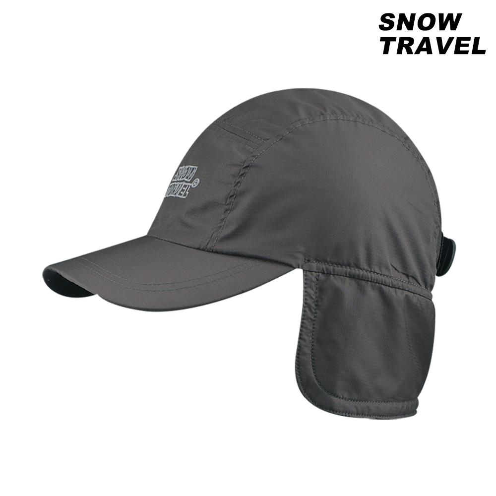 【SNOW TRAVEL】防風小格布雙層遮耳帽 AR-50 / 灰色