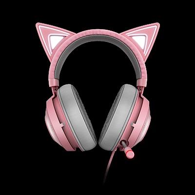 Razer Kraken Kitty 北海巨妖發光耳機(粉)