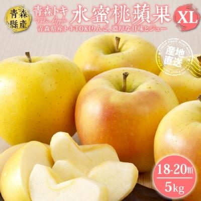 【天天果園】日本青森TOKI水蜜桃蘋果5kg(約18-20入)
