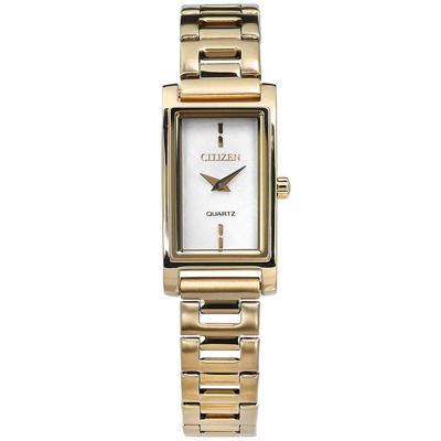 CITIZEN 珍珠母貝不鏽鋼(EZ6368-82D)手錶-銀白x鍍香檳金/14mm @ Y!購物