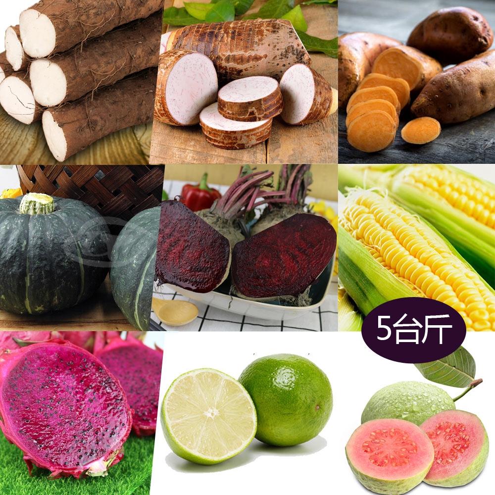 果之家 健康輕食自助蔬果箱5台斤