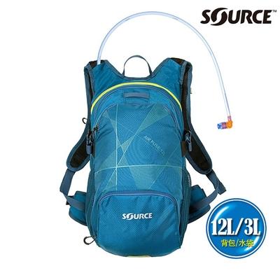 SOURCE 戶外健行水袋背包 Air Fuse 12L 2054292012|背包12L/水袋3L|深藍色