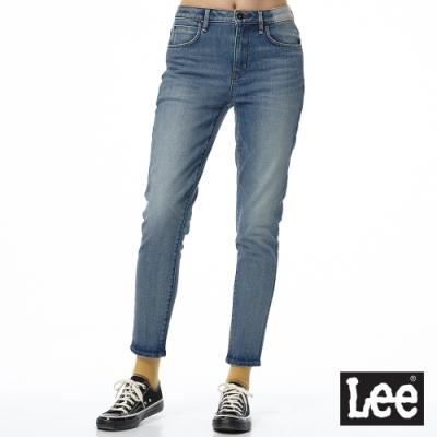 Lee 牛仔褲 413 合身高腰小直筒 女 中藍 彈性