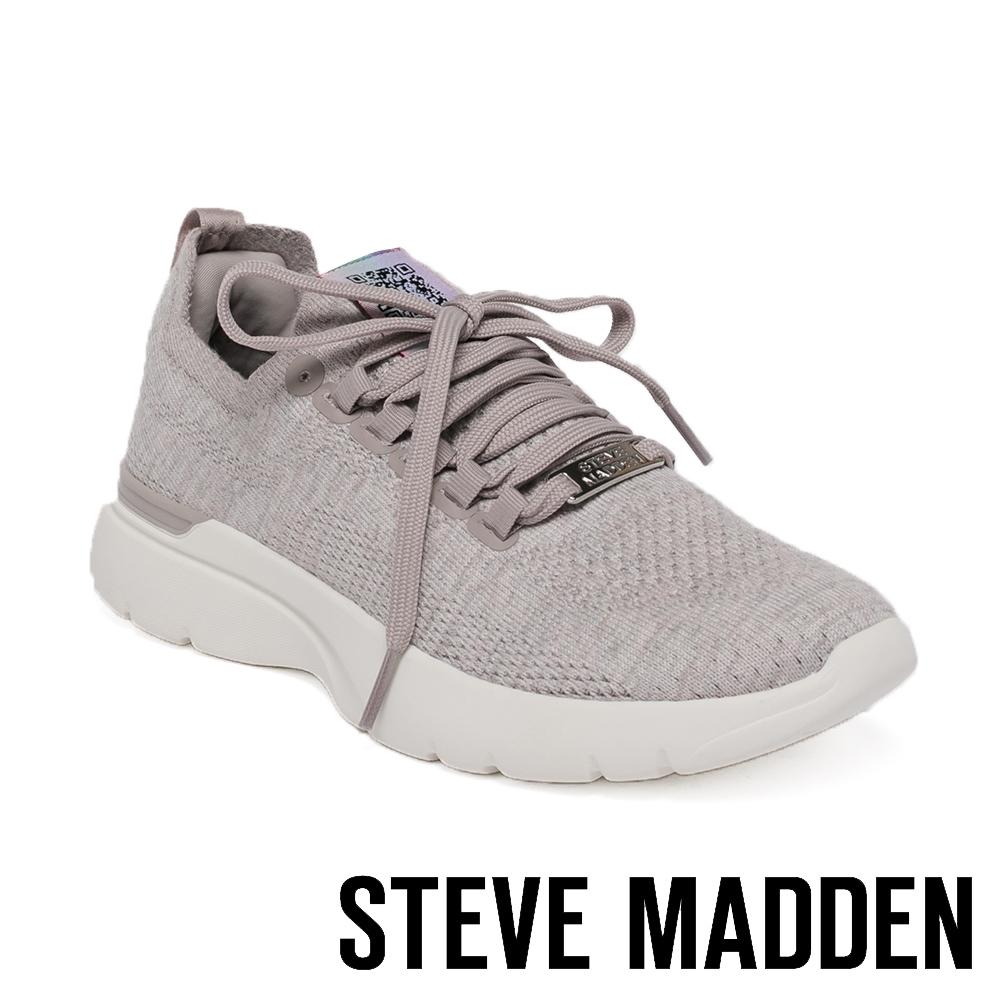 STEVE MADDEN-VINYASA 針織彈性休閒運動女鞋-灰色