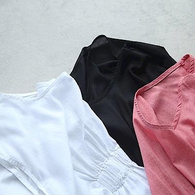 設計感抽褶吊帶背心內搭上衣-設計所在