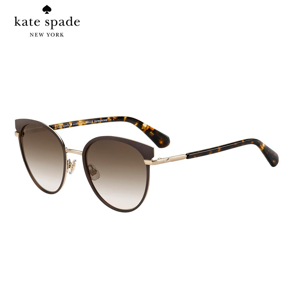Kate Spade JANALEE/S-時尚貓眼太陽眼鏡 棕色
