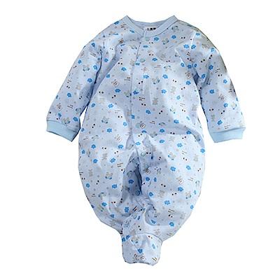 印花薄長袖包腳連身衣 k60676 魔法Baby