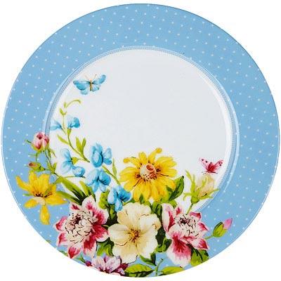 CreativeTops Katie淺餐盤(花園藍19cm)
