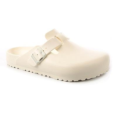 勃肯BIRKENSTOCK 1002315。波斯頓 EVA包頭拖鞋(白色)