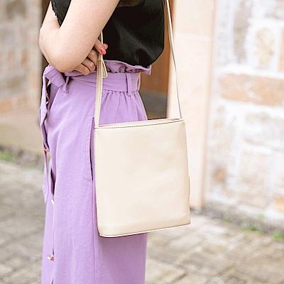 韓系簡約純色方形肩背包-OB大尺碼