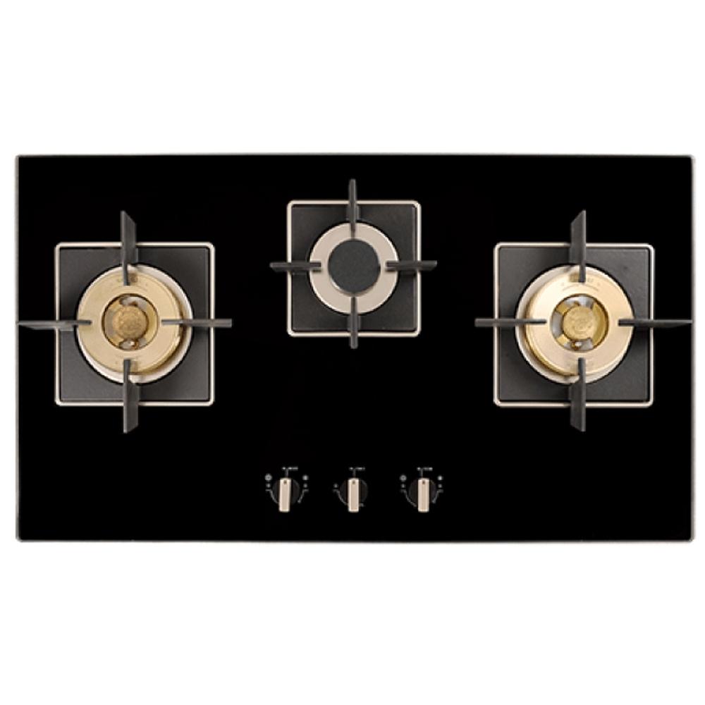 【義大利貝斯特best】精密銅爐頭黑玻三口高效能瓦斯爐GH862-GS