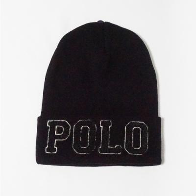 Polo Ralph Lauren 熱銷經典Logo凸字毛帽 - 黑色