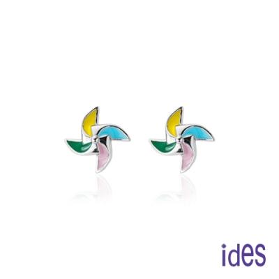ides愛蒂思 日韓時尚設計純銀耳環/小風車