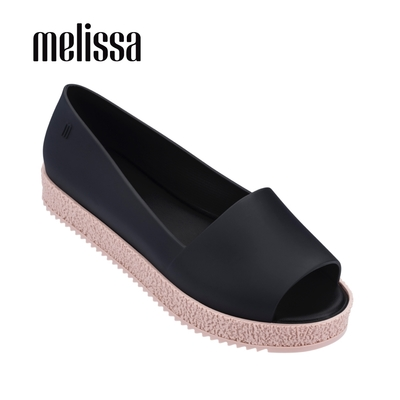 Melissa PUZZLE 魚口厚底鞋-黑