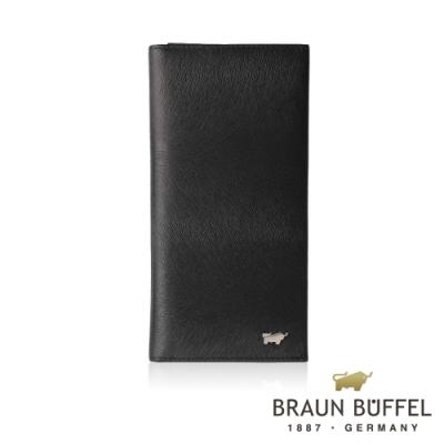 【總代理BRAUN BUFFEL德國小金牛】提貝里烏斯-II 17卡長夾-黑色/BF348