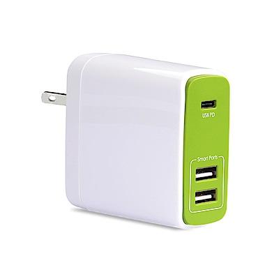 Avantree TR604P Type-C PD快充/雙USB 3孔充電器