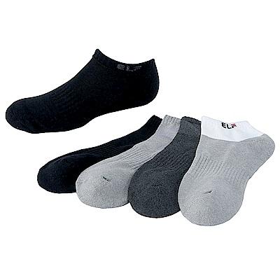 三合豐 ELF 竹炭氣墊束底抗菌除臭運動船襪-6雙
