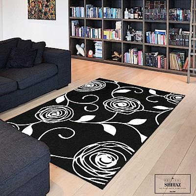 Ambience 比利時Shiraz 地毯-黑與白(玫瑰 160x230cm)