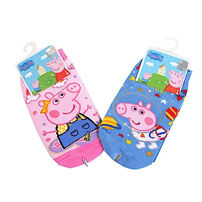 粉紅豬小妹直版襪 (2雙一組)k50558 魔法Baby