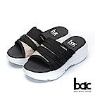 bac加州陽光-輕量化飛織布一片式運動風厚底拖鞋-粉紅