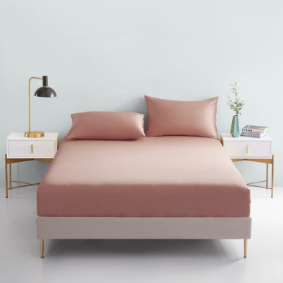 澳洲Simple Living 單人300織台灣製純棉床包枕套組(奶茶棕)