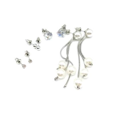 HERA 赫拉 經典水鑽珍珠款四入組耳環