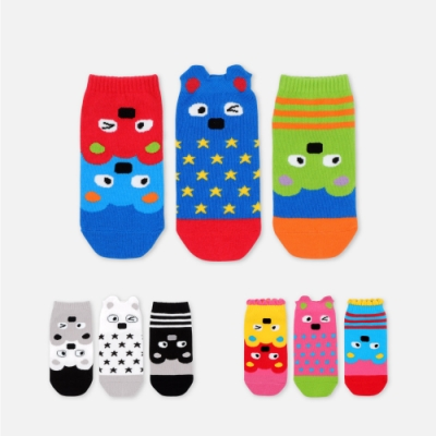 WHY AND 1/2 三隻一組踝襪 多色可選
