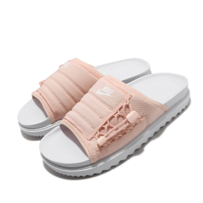 Nike 涼拖鞋 Asuna Slide 套腳 女鞋 輕便 舒適 夏日 簡約 穿搭 白 粉 CI8799100