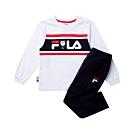 FILA KIDS #WONNIE系列小童圓領套裝-白色 1WTT-8459-WT