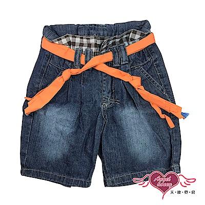 【天使霓裳-童裝】牛仔甜心 兒童牛仔短褲(藍)