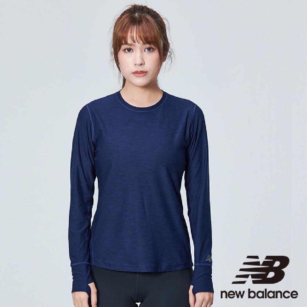 New Balance DRY 彈性花紗長袖上衣 AWT83119PGH 女性 丈青