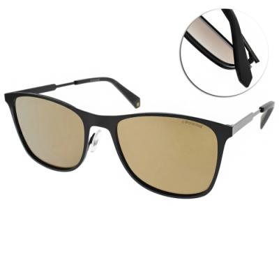 Polaroid 偏光太陽眼鏡 百搭方框款/霧黑-棕 #PLD2051S 807LM