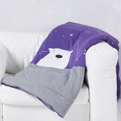Yvonne Collection6x7呎北極熊雙人四季被-紫