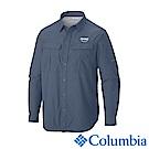 Columbia哥倫比亞 男款-防曬30防潑長袖襯衫-灰藍 UAE91540