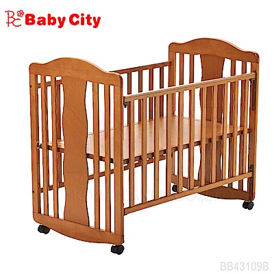 娃娃城BabyCity -幸福天使搖擺小床(柚木色)