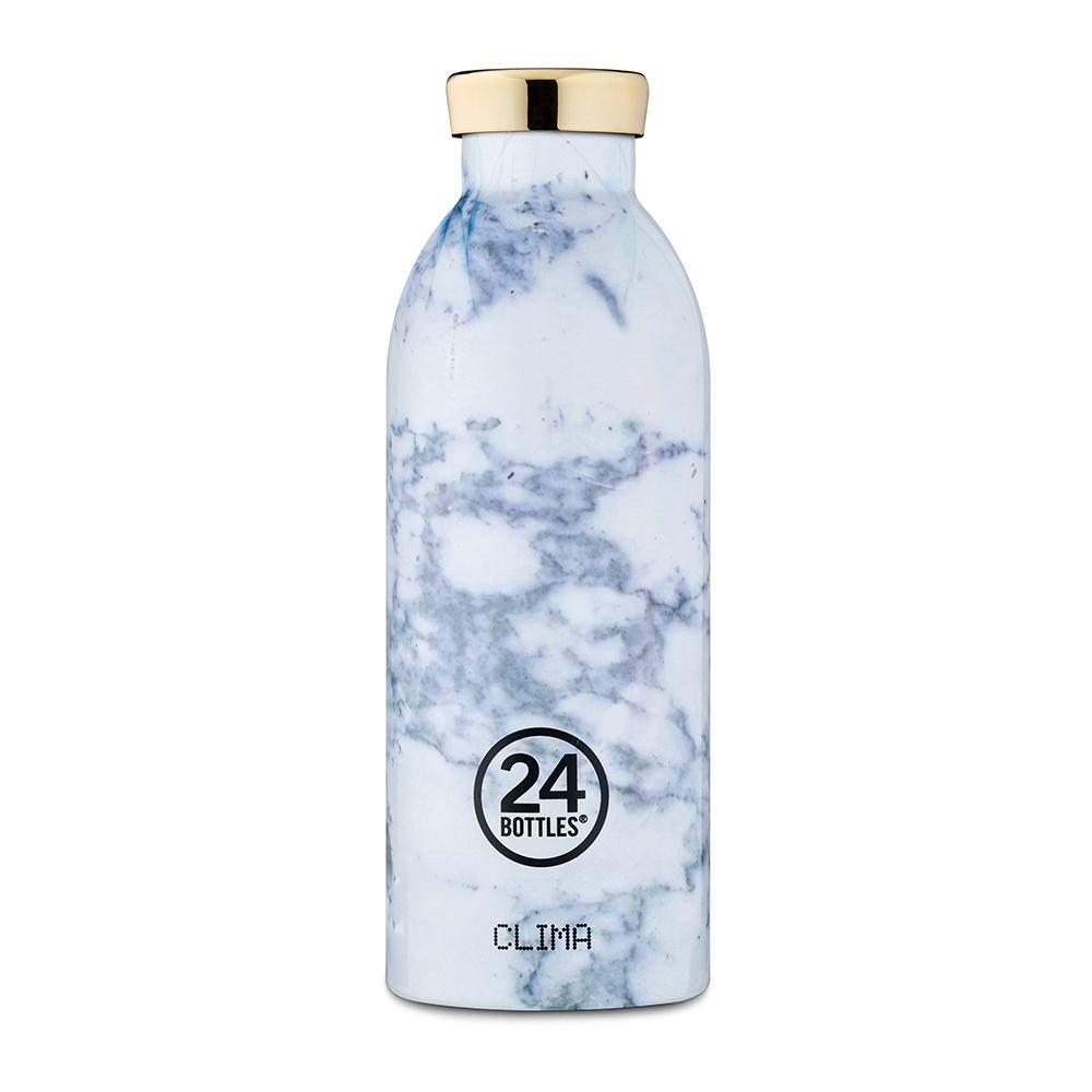 義大利 24Bottles不鏽鋼雙層保溫瓶500ml-藍紋大理石