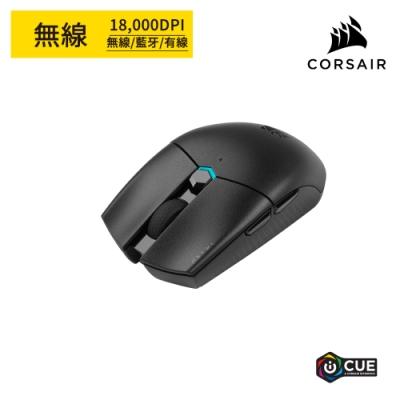 【CORSAIR海盜船】 KATAR PRO Wireless 無線電競滑鼠-黑