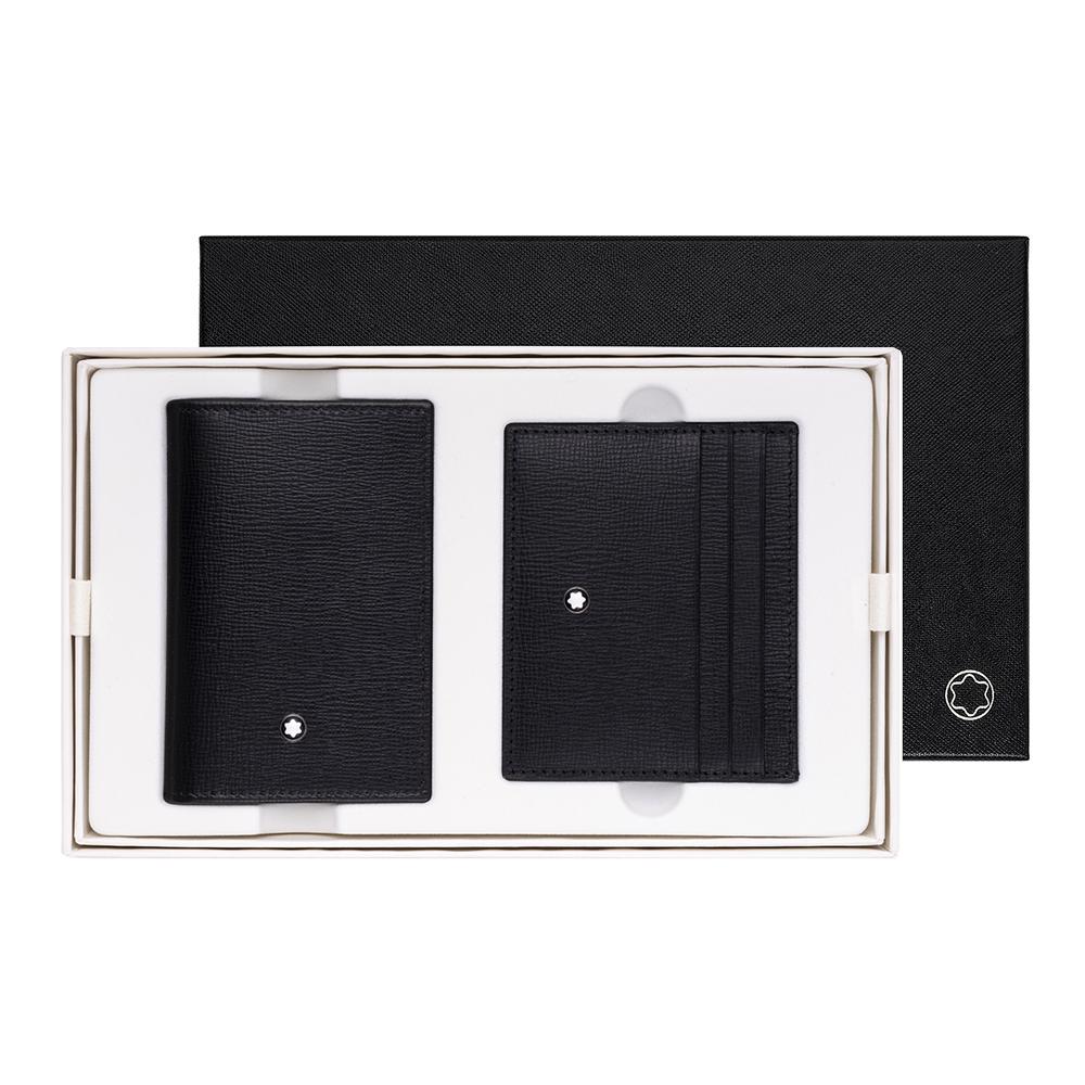 Montblanc 萬寶龍大班系列牛皮名片夾+六卡卡夾禮盒
