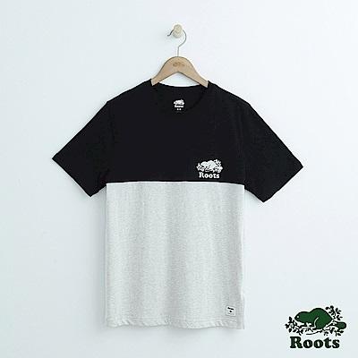 男裝Roots 色塊短袖T恤-黑