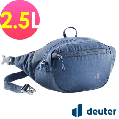 【deuter 德國】BELT II 2.5L休閒輕量腰包3900221深藍/胸包/側背包/路跑/慢跑