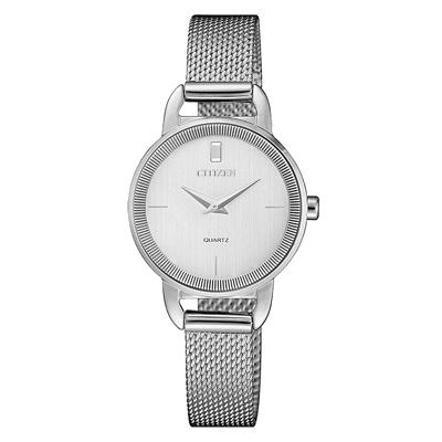 CITIZEN LADY S簡約奢華時尚米蘭腕錶-銀(EZ7000-50A)/26mm