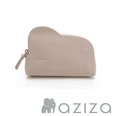 AZIZA 小象化妝包-灰