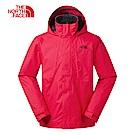The North Face北面男款紅色防風防水衝鋒衣|3SPI682