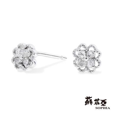蘇菲亞SOPHIA - 輕珠寶系列微甜幸福鑽石耳環