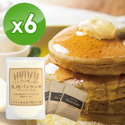 九州鬆餅 七穀原味鬆餅粉200g x6包+濾掛咖啡 x3包