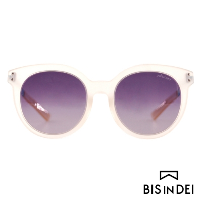 BIS IN DEI 微高調復古圓框太陽眼鏡-霧透明