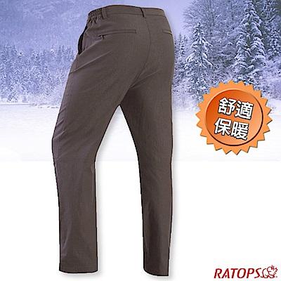 瑞多仕-RATOPS 男款 彈性刷毛保暖長褲(基本款)_DA3711 土壤褐色