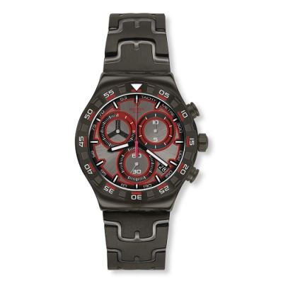 Swatch Irony 金屬Chrono系列手錶 CRAZY DRIVE 速度感-43mm